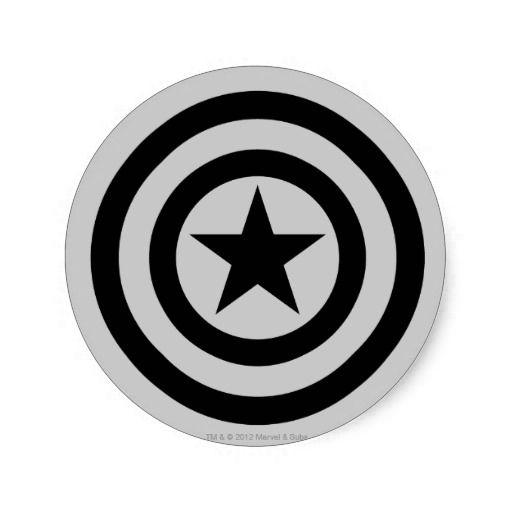 Captain America Shield Icon Round Stickers Captain America