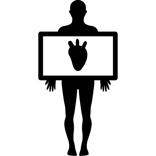 Human Body With Heart Silhouette