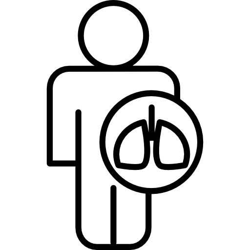 Lungs Shape In A Circle On A Human Body Icons Free Download