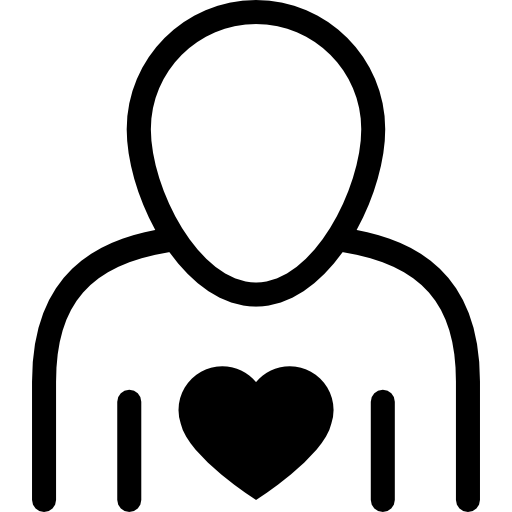 Human Outline With Heart Icons Free Download