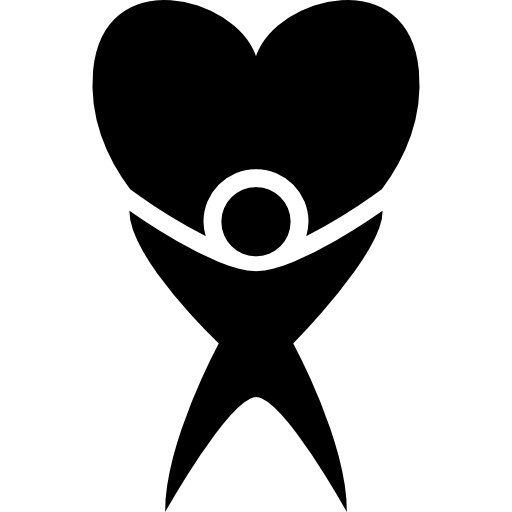 Human With A Huge Heart Icons Free Download