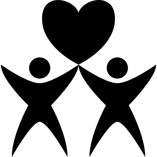 Two Human With A Heart