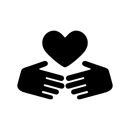 Two Hands Holding A Heart Icon