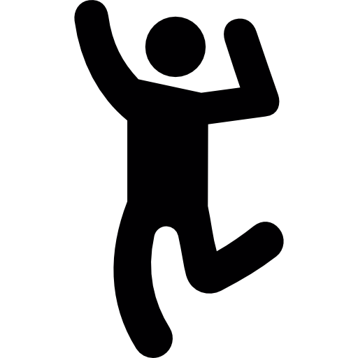 Dancing Human Silhouette Icons Free Download