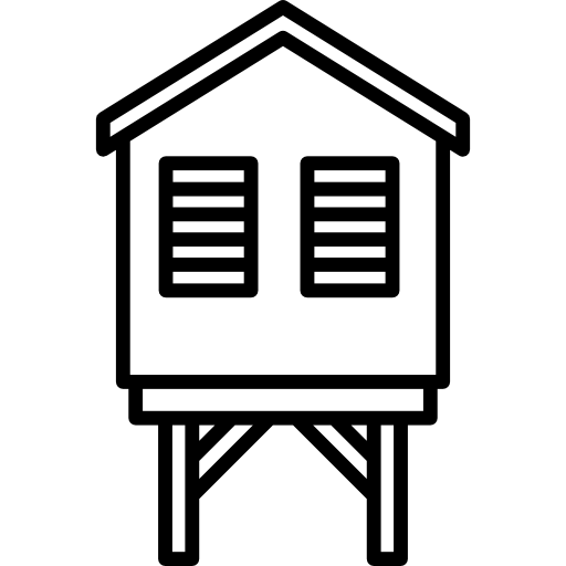 Beach Hut Icons Free Download