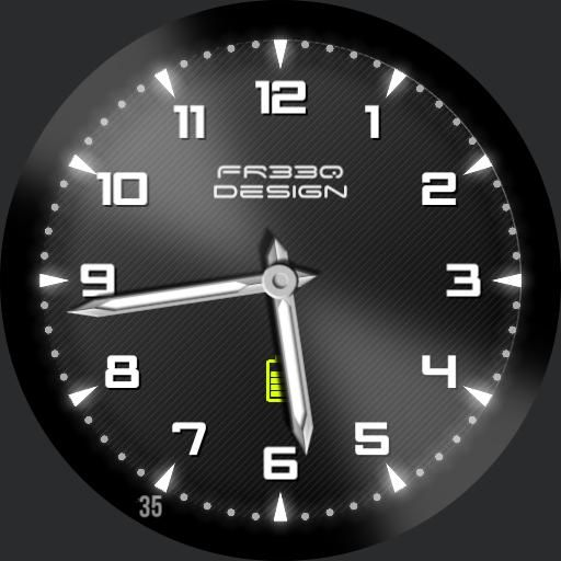 Stylish Watch Face With The Current Second Revealed On The Rim
