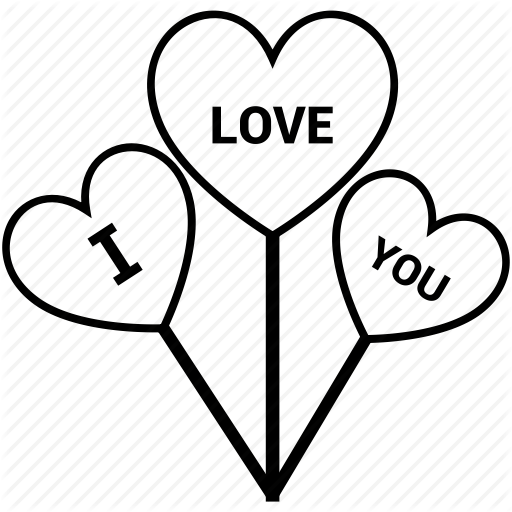 Balloon, Heart, Heart Sign, I Love You, Love Logo Icon