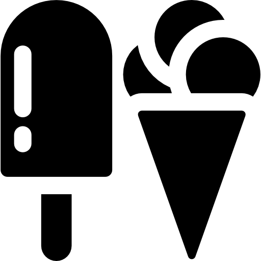 Two Ice Creams Icons Free Download