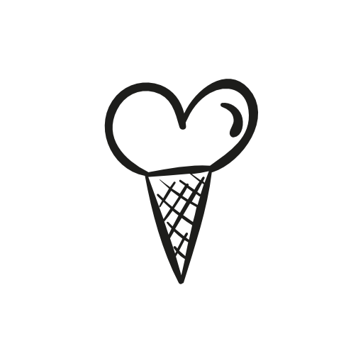 Heart Shaped Ice Cream Icons Free Icons Download