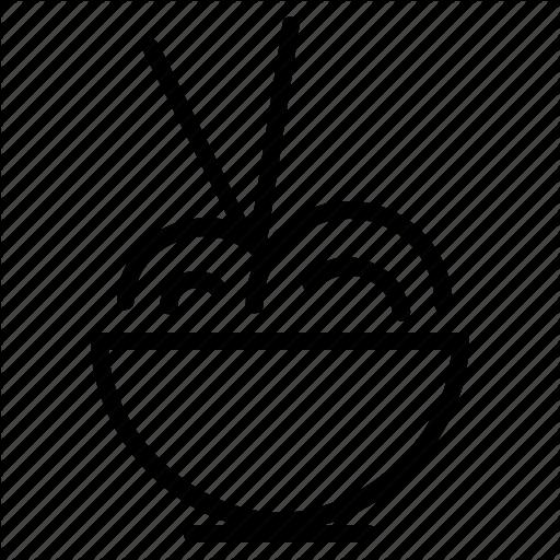 Bowl, Cream, Food, Ice, Noodles, Sticks Icon
