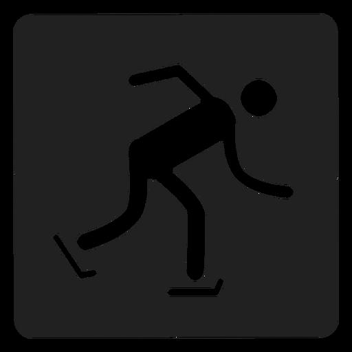 Ice Skating Square Icon Skating