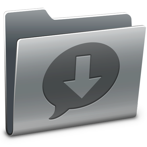 Ichat, Downloads, Folder Icon Free Of Hyperion Icons