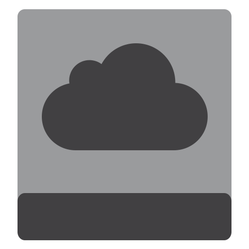Hdd, Icloud Icon