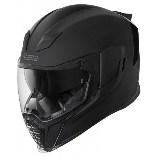 Icon Airflite Rubatone Matte Black Motorcycle Helmet Quad Bikes