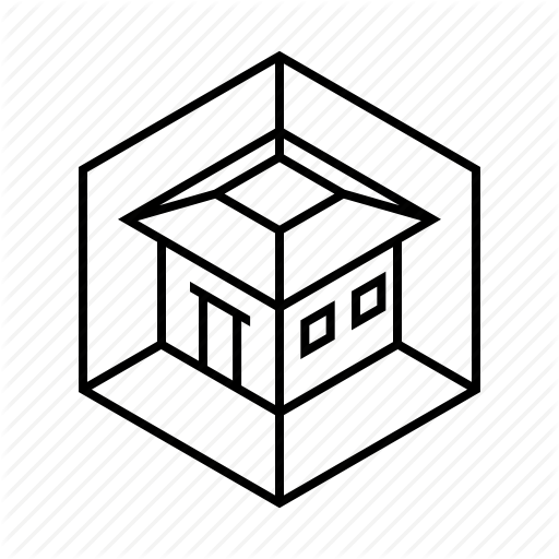 Abstract, Dimension, House, Model, View Icon