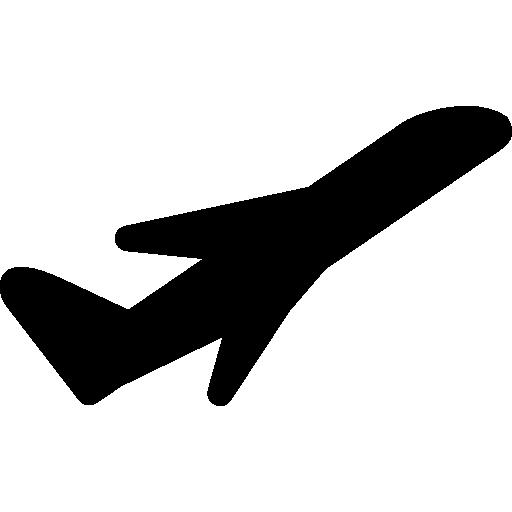 Airplane Black Silhouette, Take Off, Ios Interface Symbol Icons