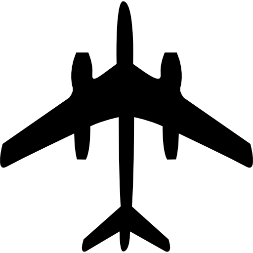Commercial Airplane Bottom View Icons Free Download