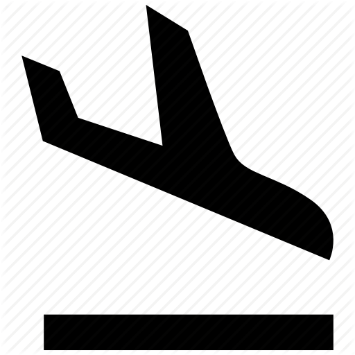 Aircraft, Airplane, Airport, Arrival, Flight, Plane, Travel Icon