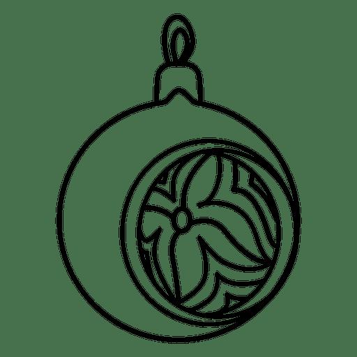 Christmas Ball Stroke Icon
