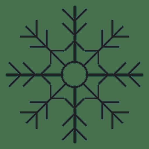Snowflake Stroke Icon