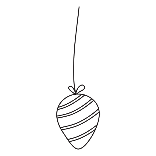 Christmas Ball Stroke Hand Drawn Icon