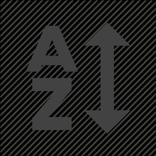 A, Arrow, Material, Order, Sort, Z Icon