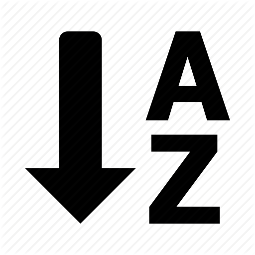 A, List, Order, Sort, To, Z Icon