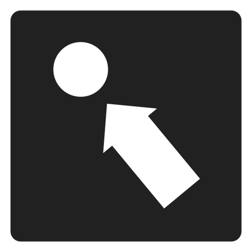 Arrow Pointing A Circle Square Icon
