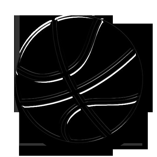 Transparent Glass Icon Sports Hobbies Ball Basketball Zimmerman
