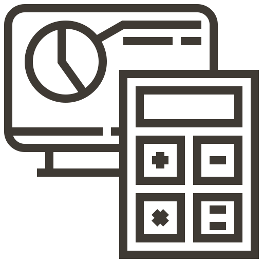 Chart, Graph, Calculator, Finance, Calculate, Bank, Accounting Icon
