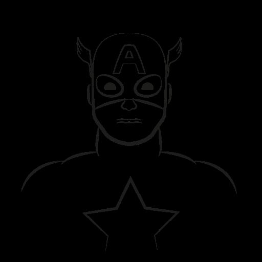 Marvel Hero, Captain America, America, Captain, Avatar Icon