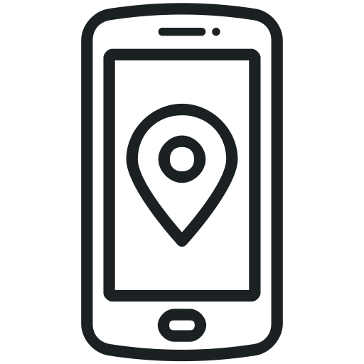 Map, Gps, Communication, Navigation, Location, Phone Icon