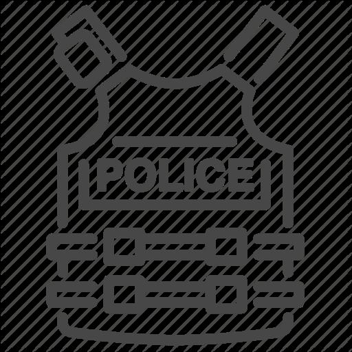 Armor, Bulletproof, Bulletsafe, Cop, Jacket, Police, Vest Icon