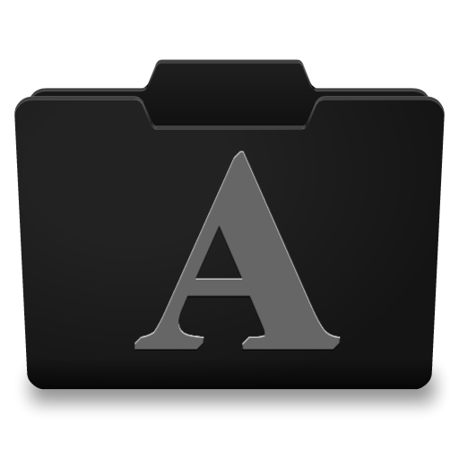 Black Grey Fonts Icon
