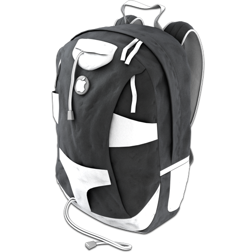 Backpack Grey Icon