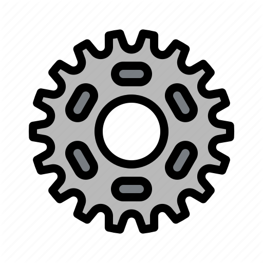 Bicycle, Bike, Chain, Gear, Mechanism Icon