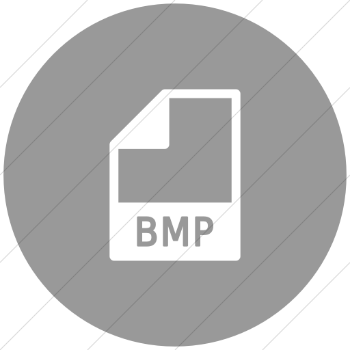 Flat Circle White On Light Gray Mime Types Document Bmp