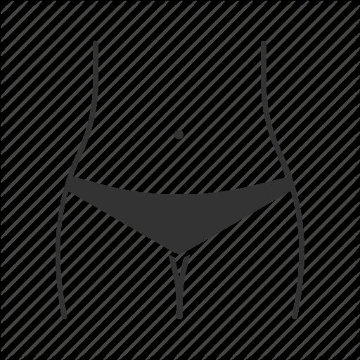 Abdomen, Bikini Zone, Body, Female, Hips, Piercing, Underwear Icon