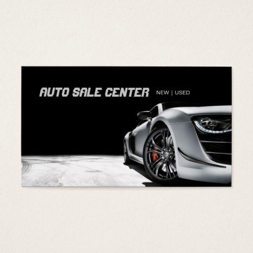 Modern Auto Sale Car Dealership Business Card Auto