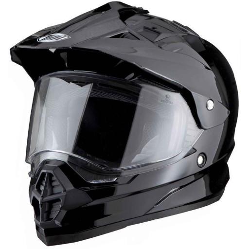 Thh Plain Black Visor Dual Sports Helmet Quad Bikes Wales Online