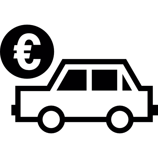 Car Sale In Euros Icons Free Download