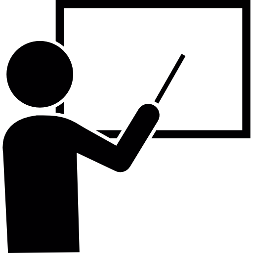 Male Cartoon Pointing To White Board Icons Free Download