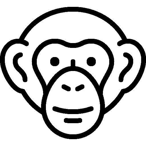 Chimpanzee Head Icons Free Download