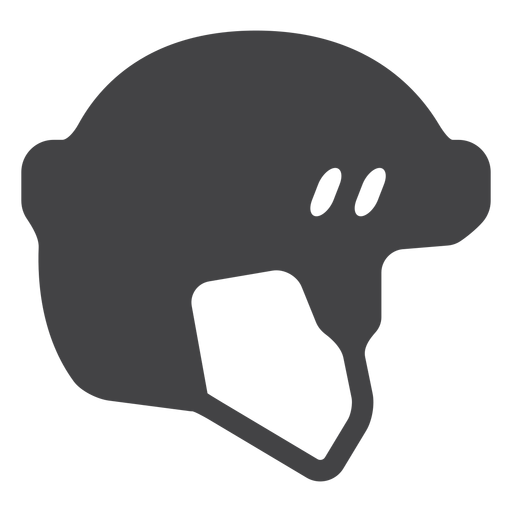 Hockey Helmet Flat Icon