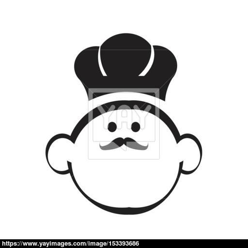 Chef Head Icon Vector