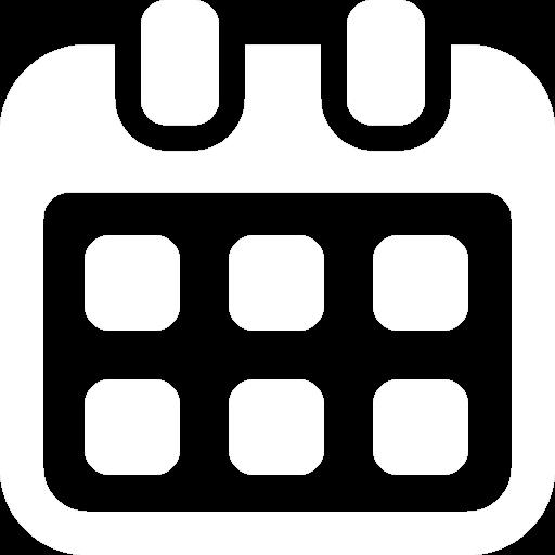 Calendar Icon White