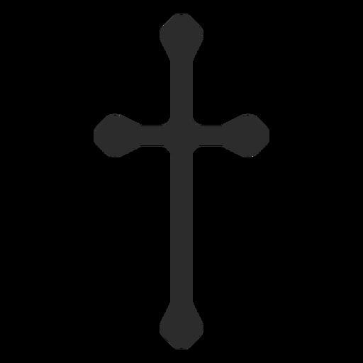 Long Christian Cross Icon