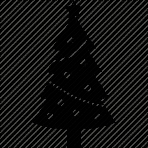 Christmas, Decoration, Holiday, Ornaments, Tinsel, Tree, Xmas Icon