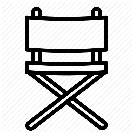 Camping, Chair, Cinema, Director, Film, Movie, Seat Icon