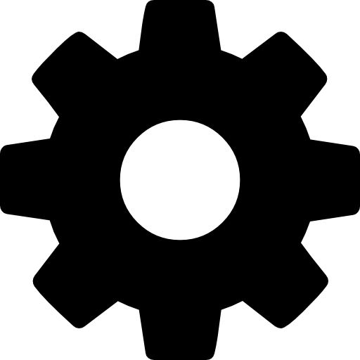 Cog Wheel Silhouette Icons Free Download